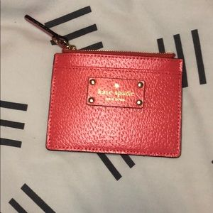NWOT Kate Spade Grove St. Leather Pink Card Holder